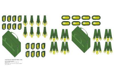 PN015 Vatts Kit for 20' Mil Van-Model
